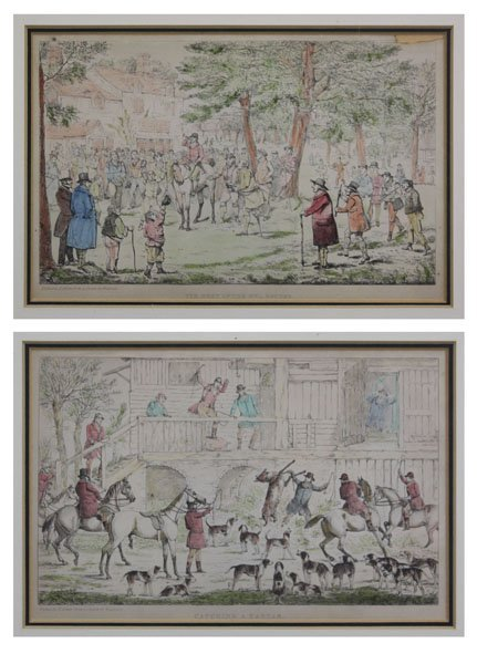 Two (2) Antique Henry Thomas Alken Hunts Scene