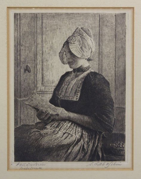 Siegfried Laboschin (b.1868) Antique Engraving Women