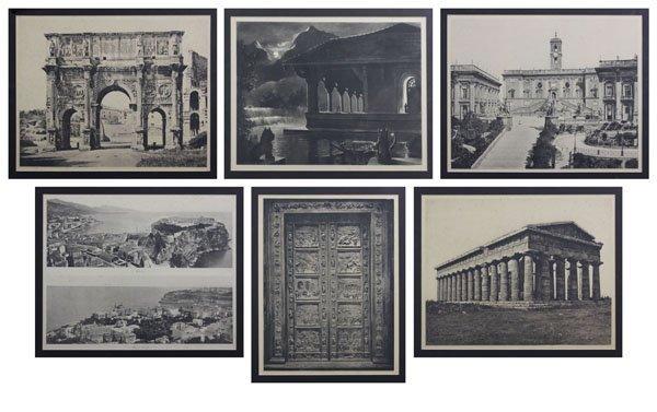 Six (6) 19/20th Century Architectural Scenes of Greece