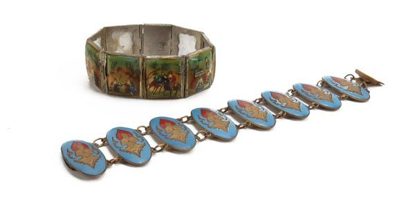 Persian Style Mother of Pearl Set Bracelet along with T