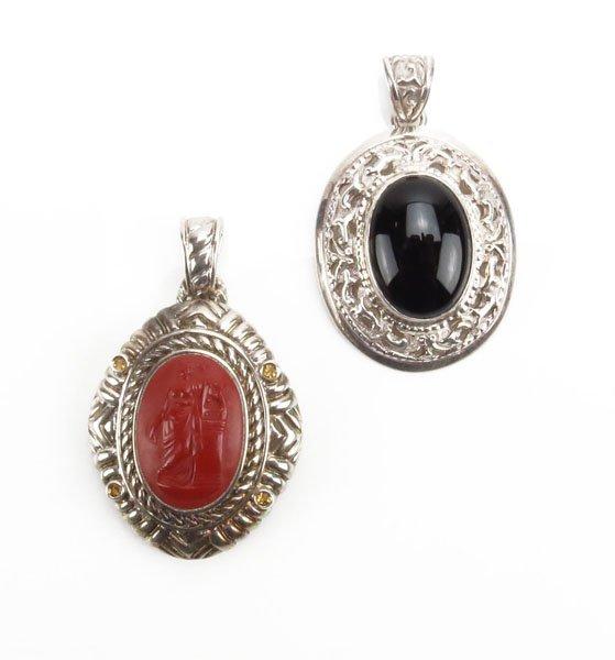 Two (2) Sterling Silver Pendants. 1 is Judith Ripka,  M