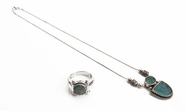 Sterling Silver Necklace  Gemstone Pendant along with S