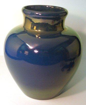 """115: St. Lukas Pottery Lg.Boulbous Vase. 12"""" H. x 10"""" W"""