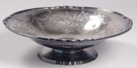 103: Wilcox  'Lady Mary' Silverplated Center Bowl
