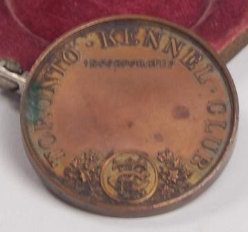105: Toronto Kennel Club Table Metal  Coin