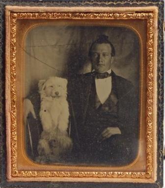 106: Ambrotype Gentleman w/ Dog