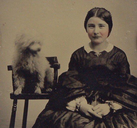 107: Ambrotype Lady w/ dog