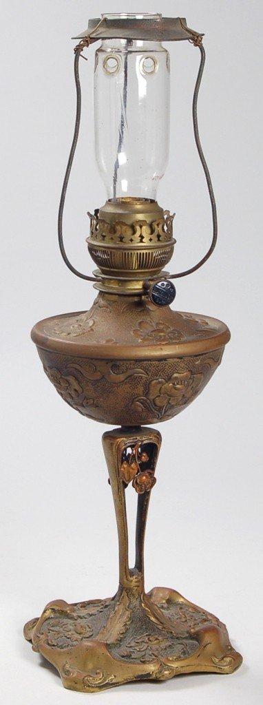 111: French Art Nouveau Oil Lamp