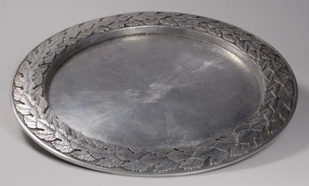 """116: 24"""" Art Deco Cast Aluminum Serving Tray"""