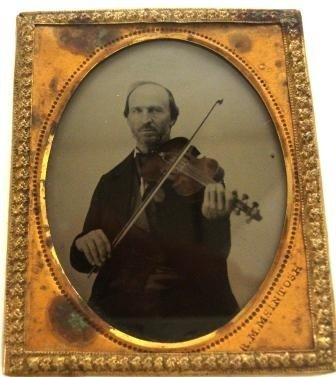 107A: Ambrotype MAN PLAYING  VIOLIN McIntosh