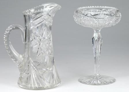 5: 2 pc Cut Glass