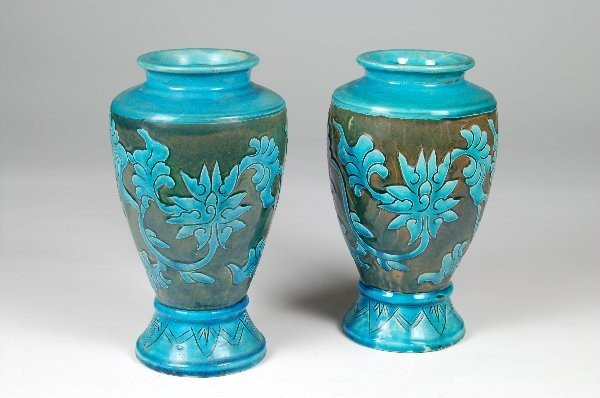 8: Pr. Faience Vases appear to be eatly 20th century. M