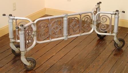 """17: Art Deco Casket Trolley Length 36"""" - 58"""" , Width 18"""