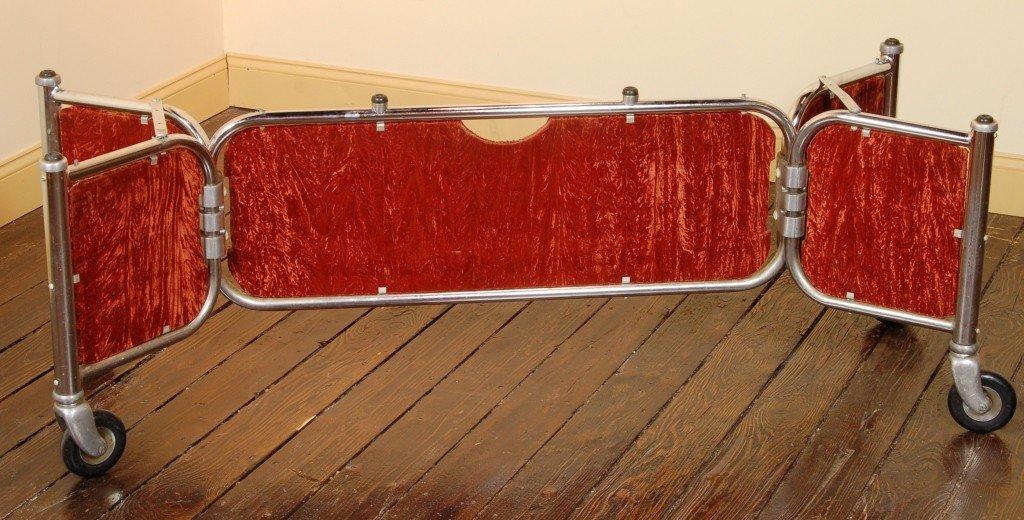 19: Bomgardner Chrome Velvet 1950-60 Casket Trolly