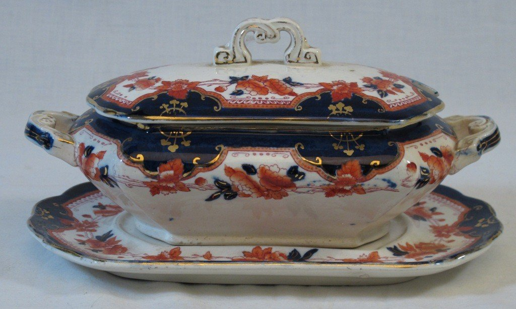 2: Imari Ironstone Tureen with Underplate
