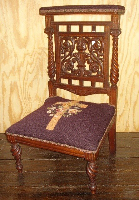 6: Hunzinger Sty. Walnut Prayer Chair