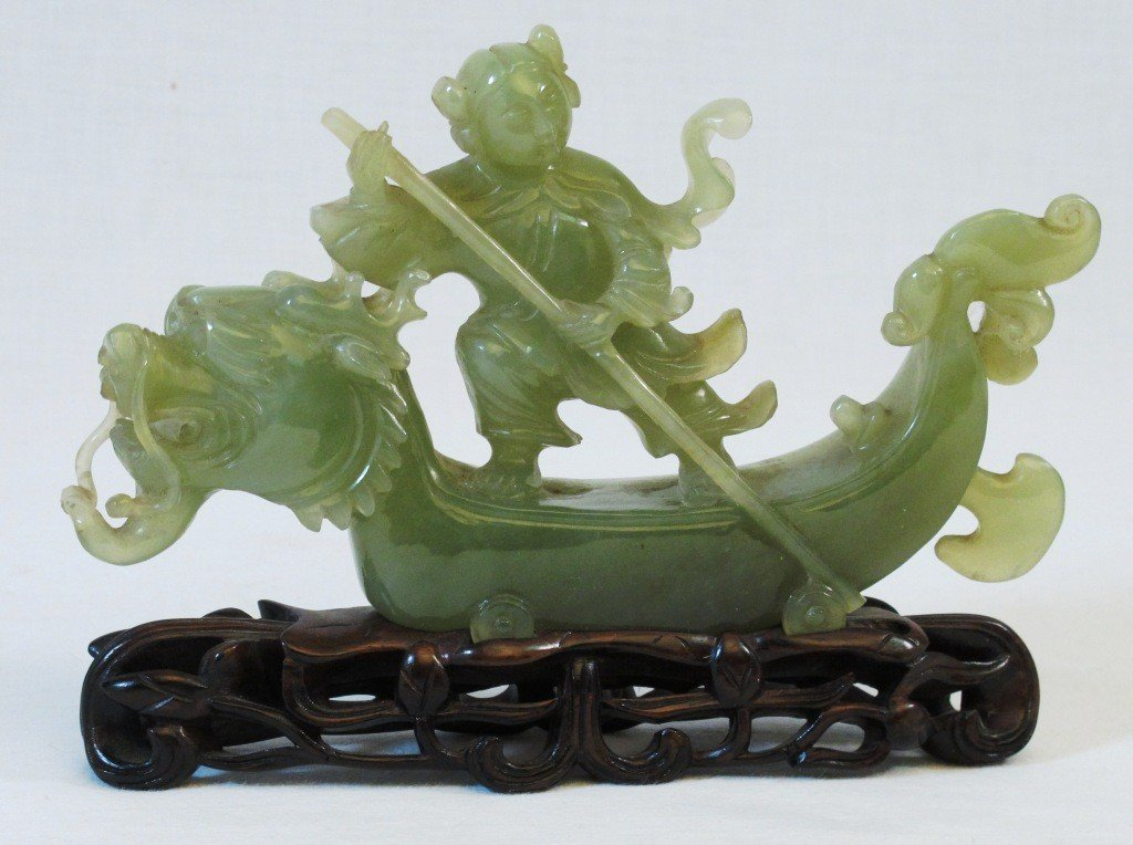 10: Jade Dragon Boat Carving