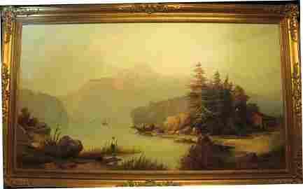 202: O/C  Landscape Sgn. J M Stanley 19th Cent