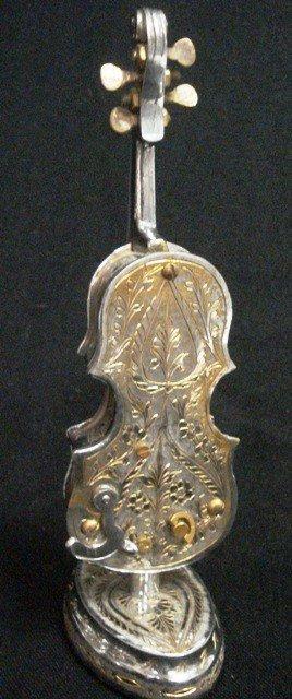 Silverplated Cello Music Box
