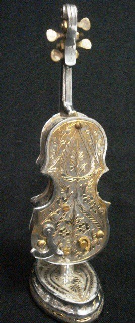 4A: Silverplated Cello Music box