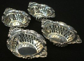 4B: Sterling Silver Nut Dishes