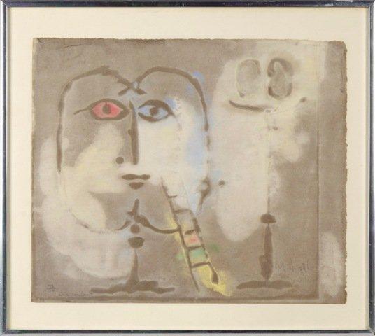 3: Signed Mihail Simeonov Abstract Monoprint Limited Ed
