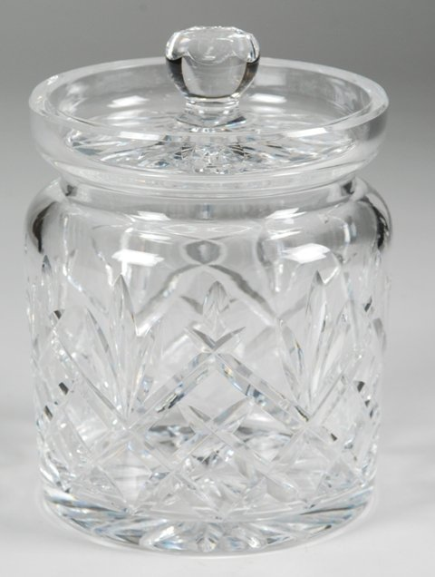 4: Waterford Crystal Biscuit Barrel Jar M-144