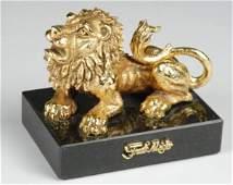 16 Israeli Sculptor Frank Meisler Bronze Lion