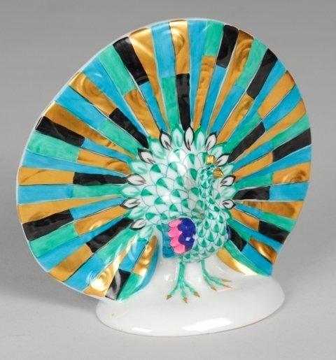 20A: Herend Peacock Figurine