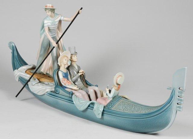 """38A: Lladro """"In The Gondola"""" 1350"""