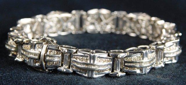 141: Joe Rodeo 14k Gold and Diamond Men's Bracelet