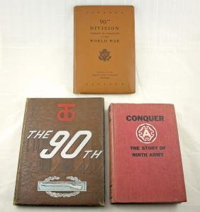 Three WWII books on 90th Division & Ninth Army