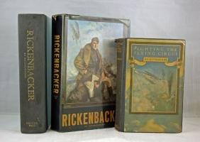 Three WWI Books on Capt. Edward V. Rickenbacker