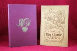 2 Books - Hunting Big Game - America & Africa