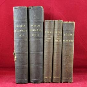 Two sets - Poetry and Madden's Phantasmata 1857