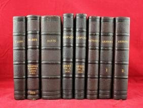 Eight Italian Books by Firenze from 1853-1856