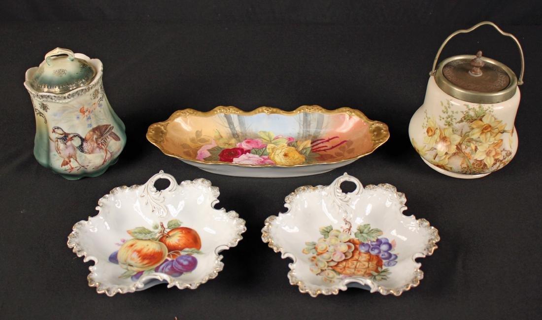 5 Pcs. Victorian Continental Ceramics
