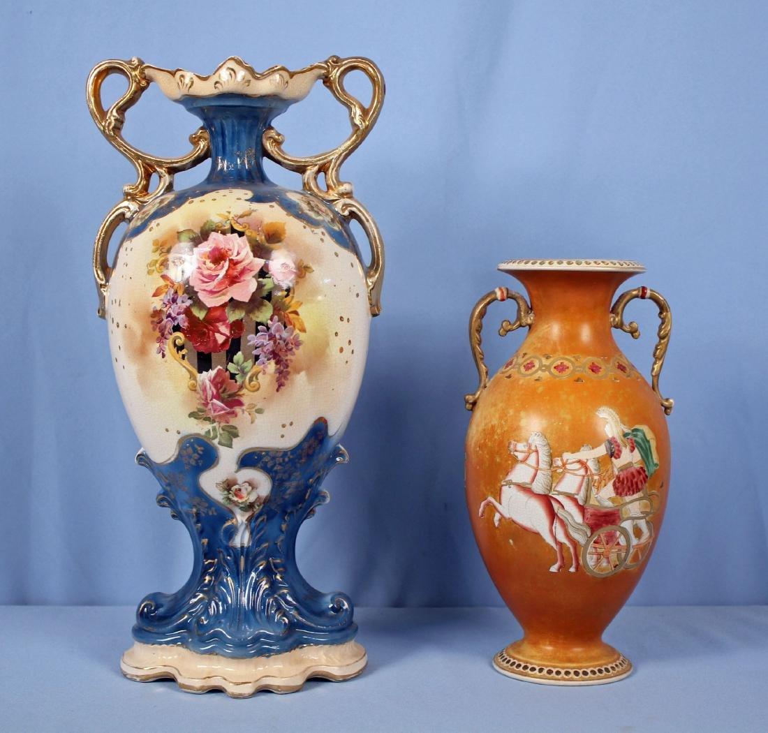 English Mantle Vase & Greek Revival Vase