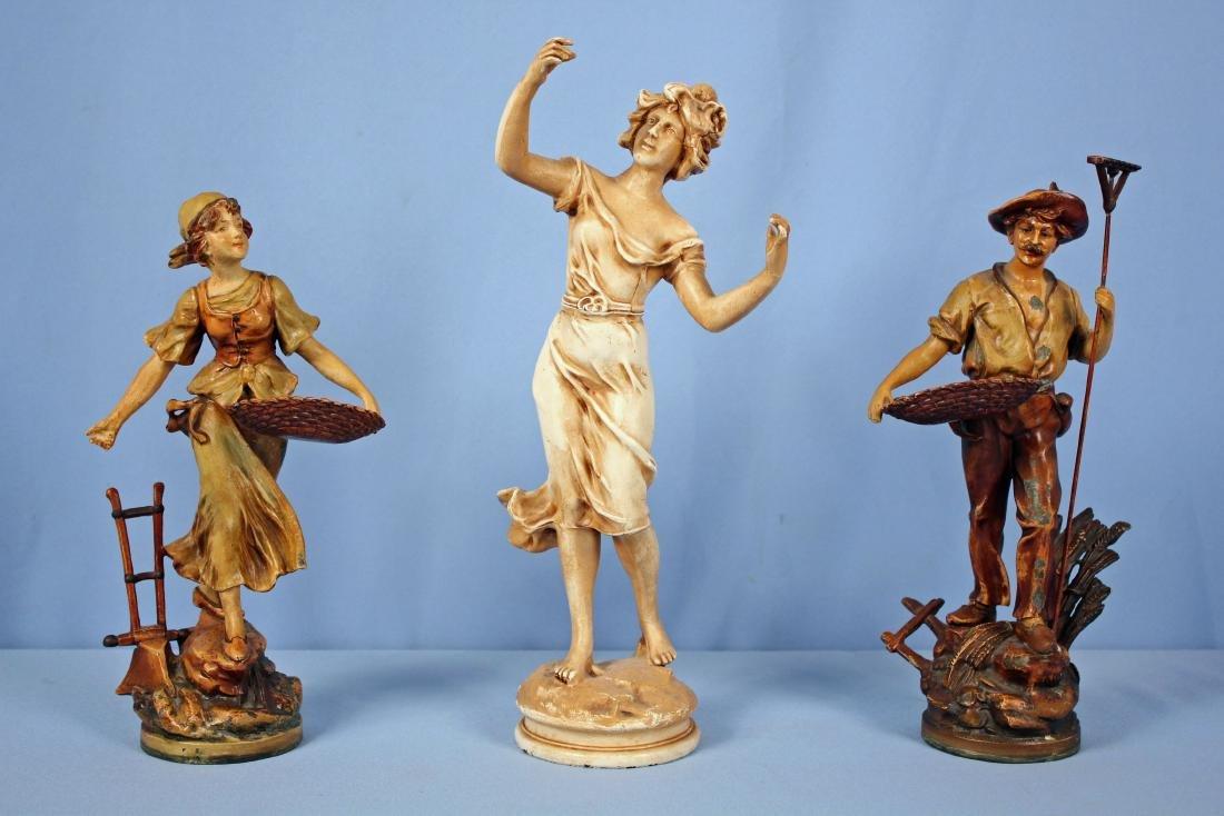 3 Spelter Statues Including Moreau