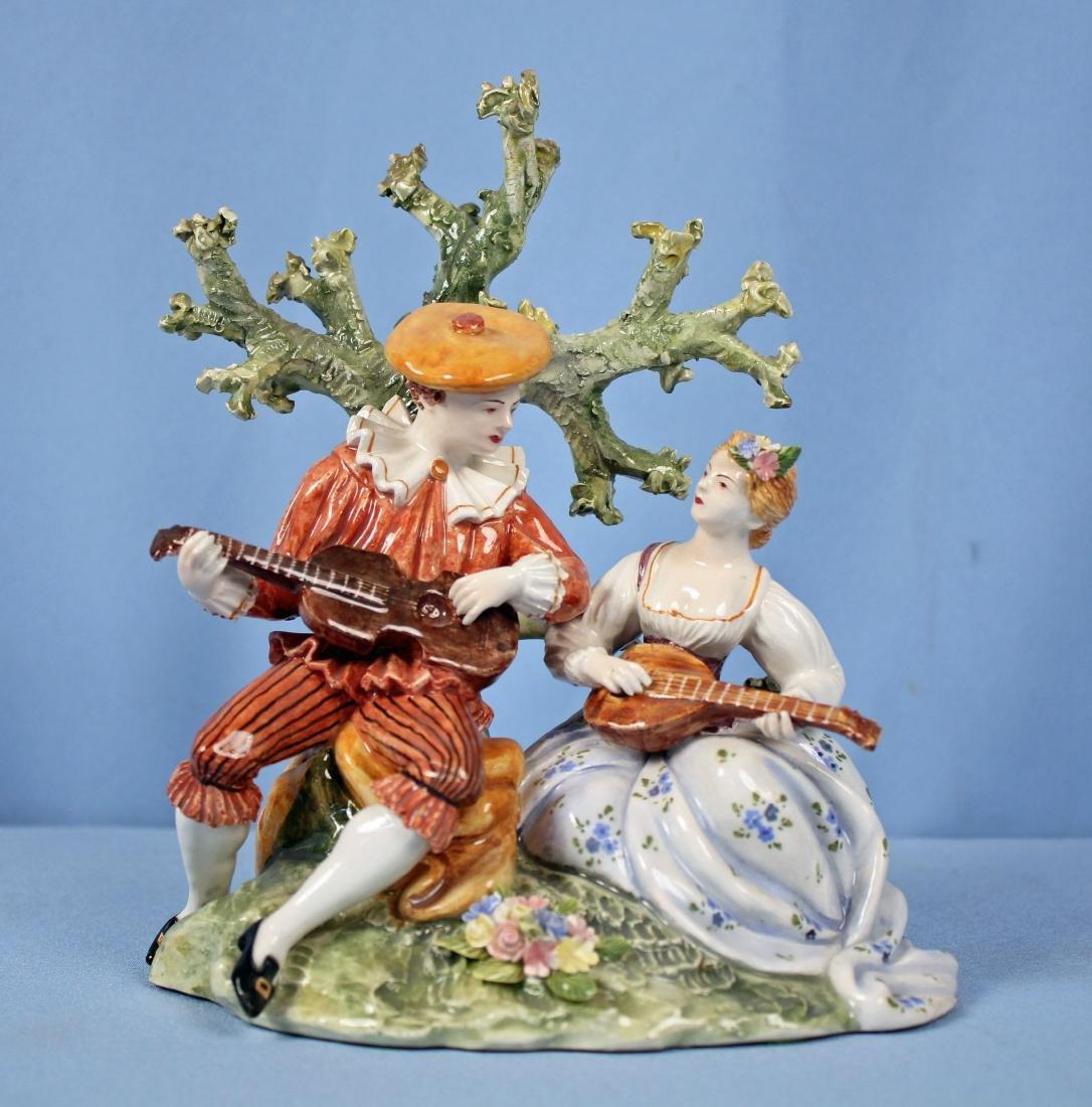 Capodimonte  Porcelain Courting Scene Figurine