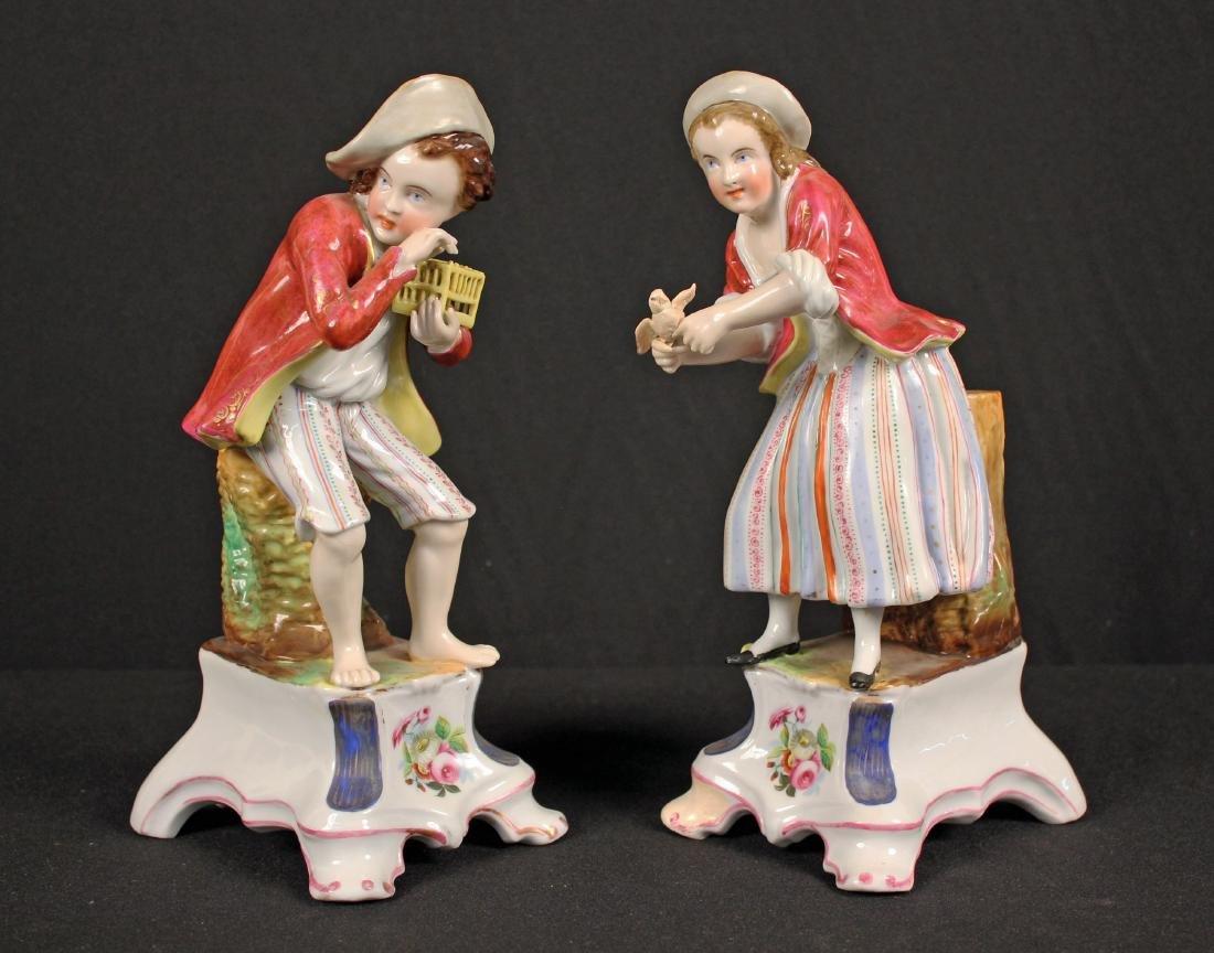 Pair of Jacob Petit Style Paris Porcelain Figures