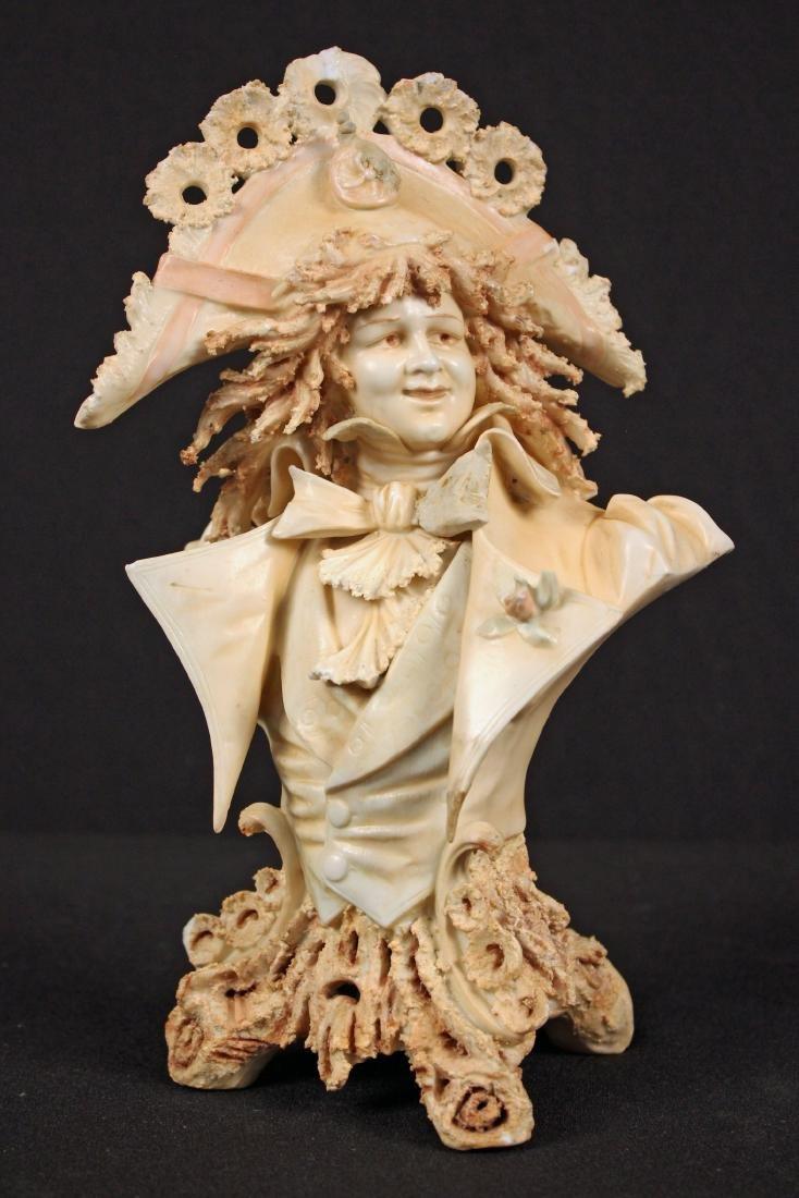 Porcelain Bust of French Nobleman Attr. Sitzendorf