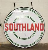 "60"" Southland Porcelain Double Side Oil / Gas Sign"