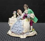 Frankenthal Dresden Porcelain Courting Couple