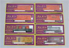 8 Rail King MTH O Gondola Box Car Etc