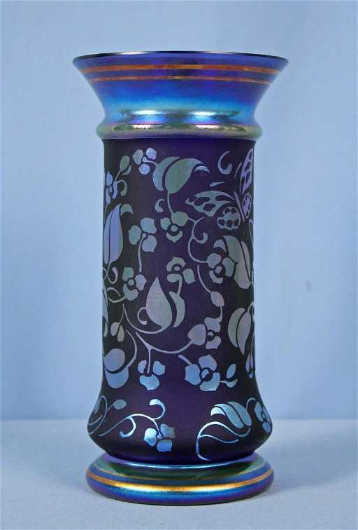 Don Fenton Memorial Cobalt Blue Art Glass Vase