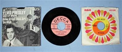 Three 45 RPM Records Elvis DJ Not For Sale Etc