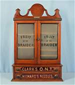 Clark's & Milward's Fruit of The Braider Cabinet