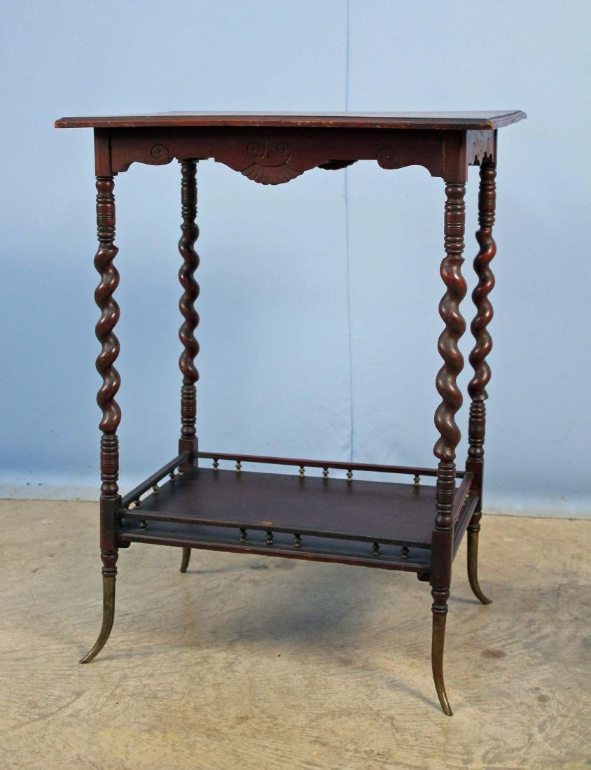 Lamp table w tobacco twist legs mahogany lamp table w tobacco twist legs geotapseo Gallery