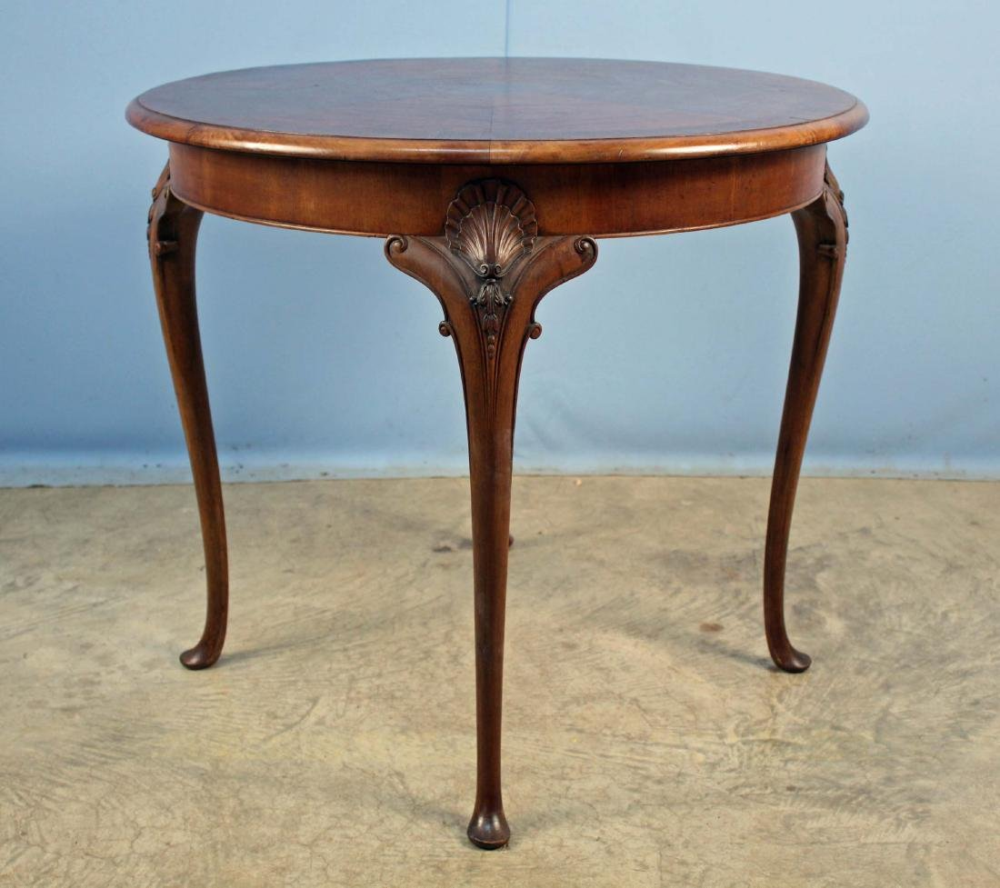 Walnut lamp table cabriole queen anne legs round walnut lamp table cabriole queen anne legs geotapseo Image collections